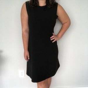 little black fit and flare elegant office dress